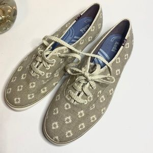 Keds Gray Cushioned Heel Confort Champion Snakers